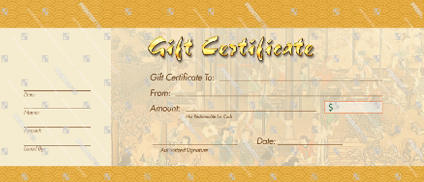 GTF004 Traditional Chinese Painting Gift Voucher